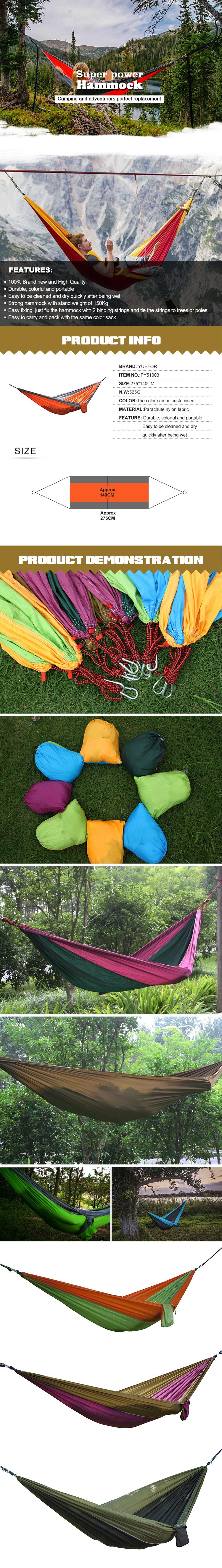 Outdoor Camping Hammock PY51003Nylon Material.jpg